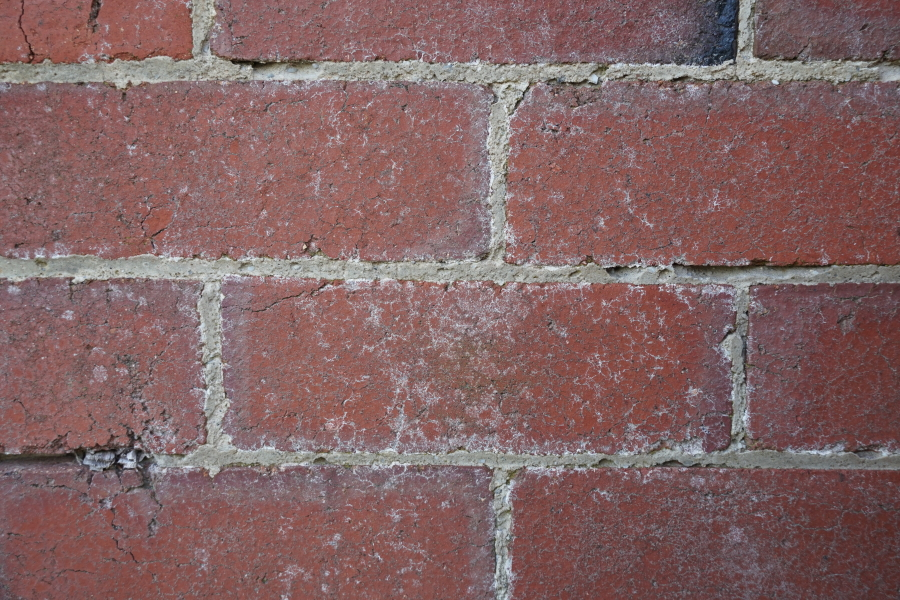 Deteriorating mortar joints