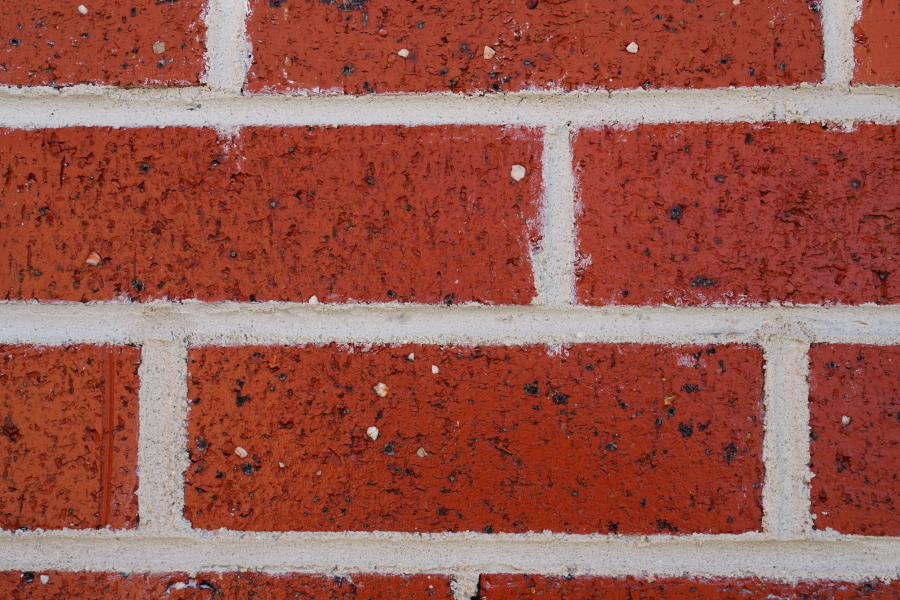 Repointed lime mortar joints